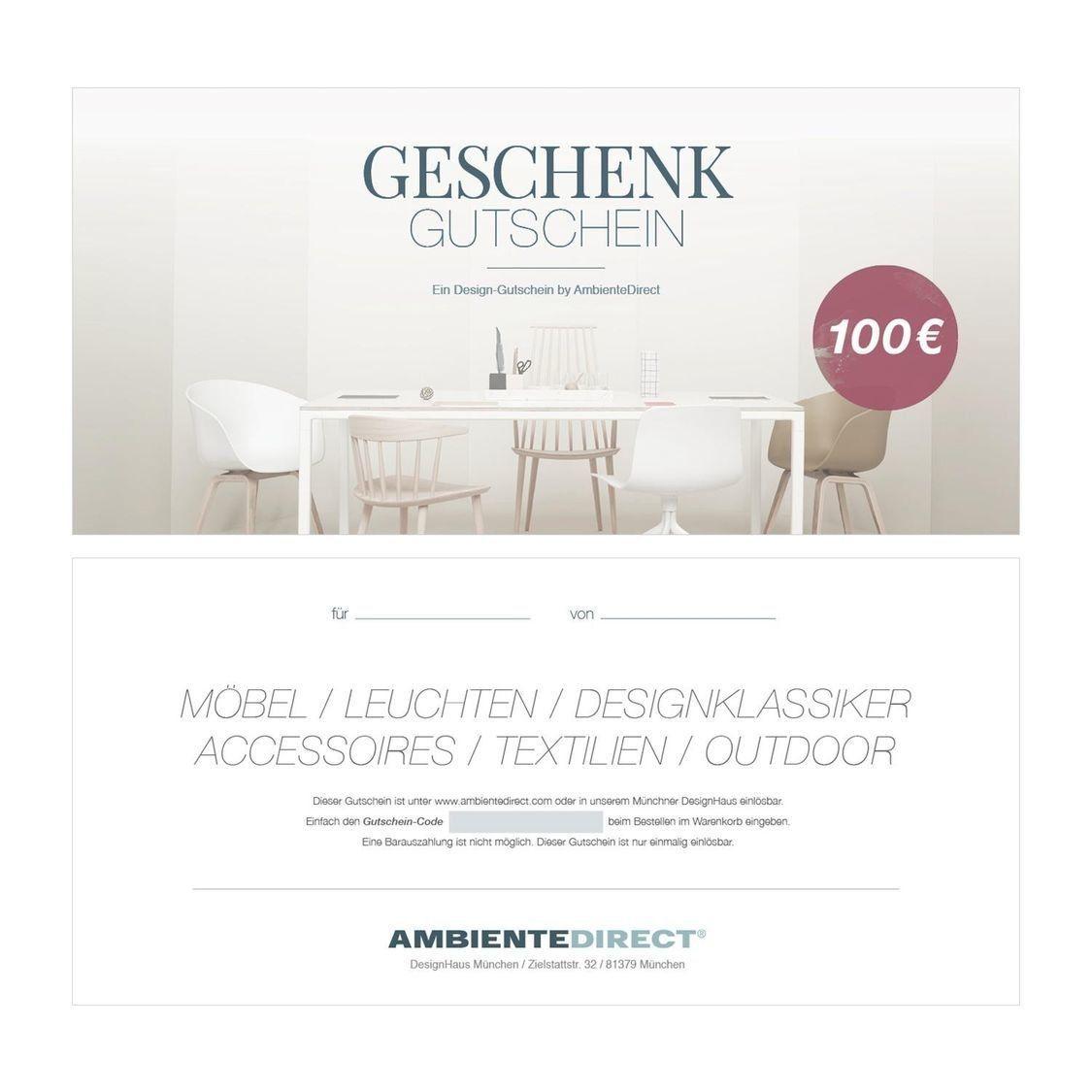 Ambiente Direct design gift voucher eur ambientedirect ambientedirect com