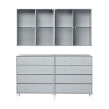 Montana - Portray Dresser With Wall Cabinet