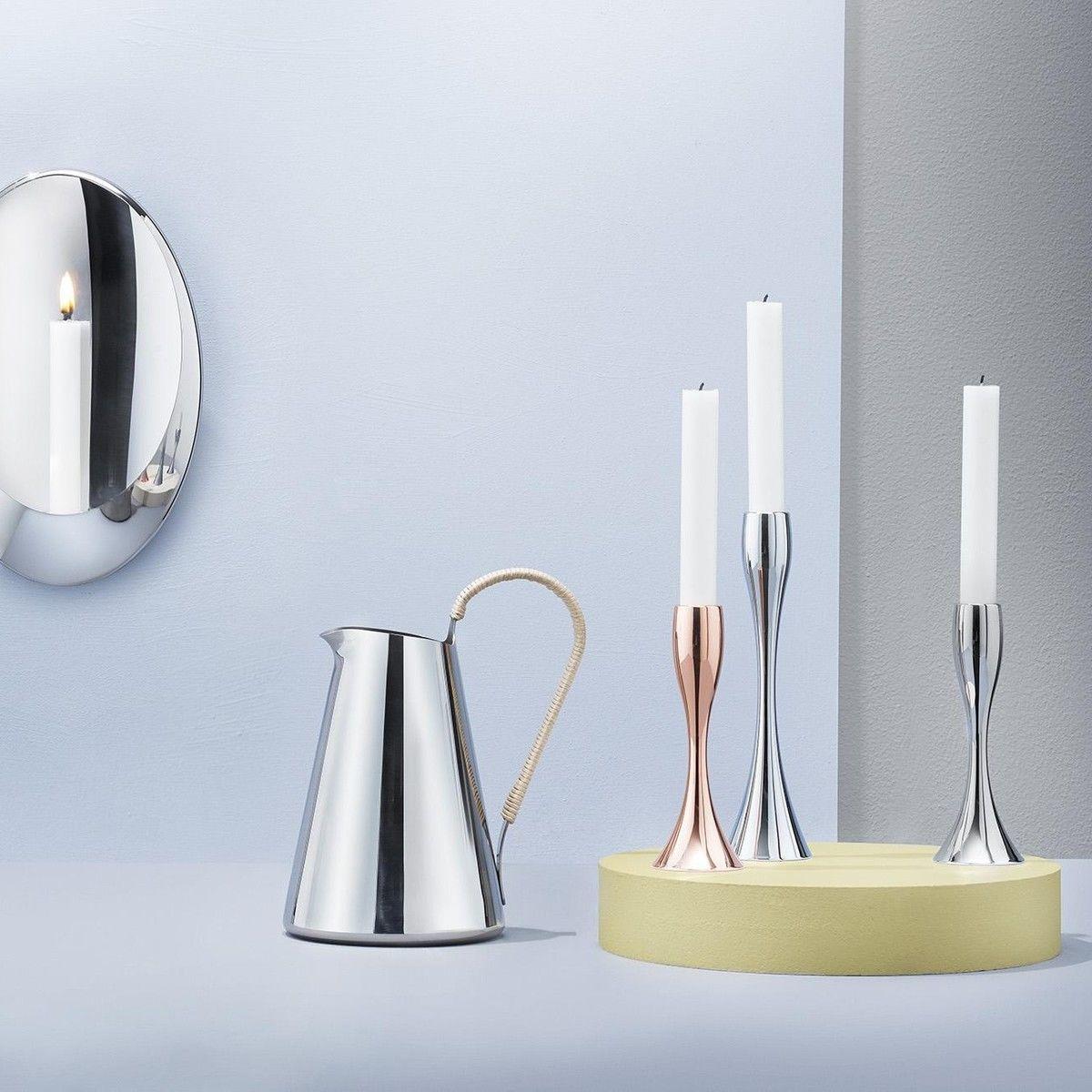reflection candle holder 17cm stelton. Black Bedroom Furniture Sets. Home Design Ideas