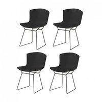 Knoll International - Bertoia Plastic Side Chair Stuhl 4er Set
