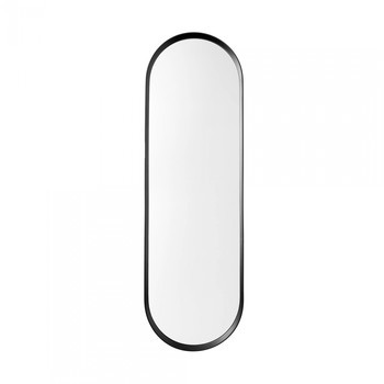 Menu - Norm Wandspiegel - schwarz/pulverbeschichtet/BxHxT 40x130x3,5cm