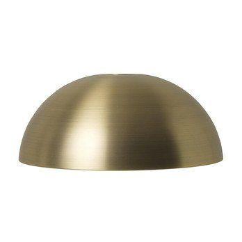 ferm LIVING - Dome Shade Lampenschirm - messing/durchmetallisiert/innen weiß/H 16cm/Ø 38cm