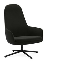 Normann Copenhagen - Era Lounge Chair High Drehstuhl Alu schwarz