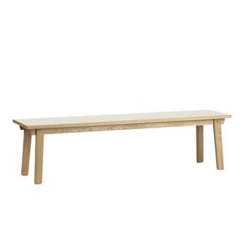 Normann Copenhagen - Slice Holzbank - eiche/Sitzfläche creme/H x B x T: : 42 x 160 x 39cm