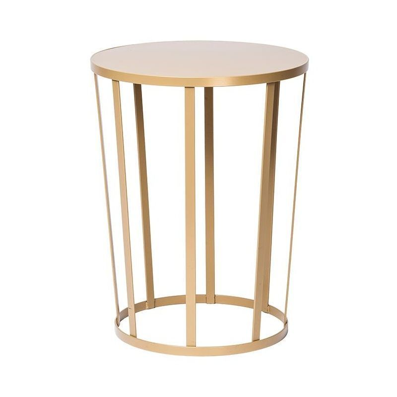 Perfect Hollo Stool/Side Table Ø35cm   Gold/H 44cm