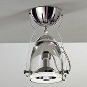 deMajo - Spoke A1/P1 E27 Wandleuchte / Deckenleuchte - transparentes Kristallglas/Gestell chrom/Diffusor transparent
