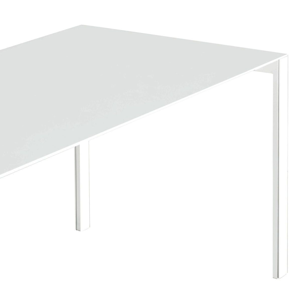 ... Kristalia   Thin K Aluminium Tisch Ausziehbar   Weiß/Gestell Weiß  Lackiert/150 ...