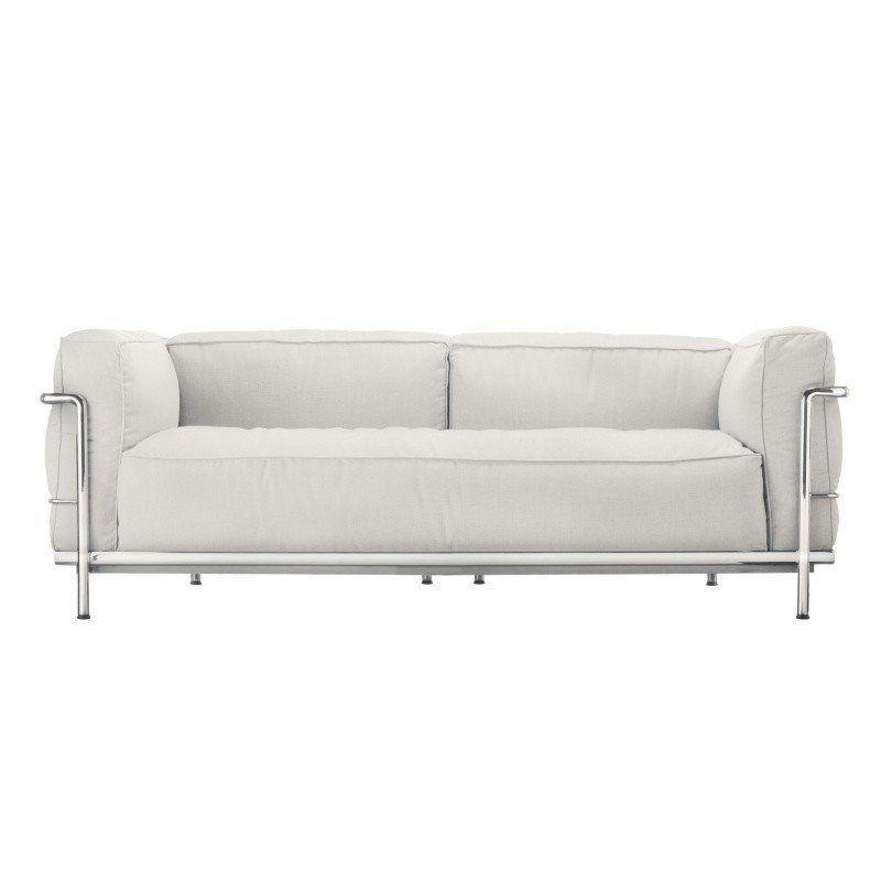 Cassina   Le Corbusier LC3 Outdoor Sofa   Snow White/fabric ...