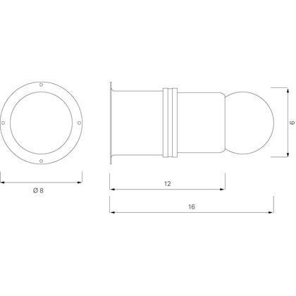 ClassiCon - Pailla Wandleuchte / Deckenleuchte - Strichzeichnung