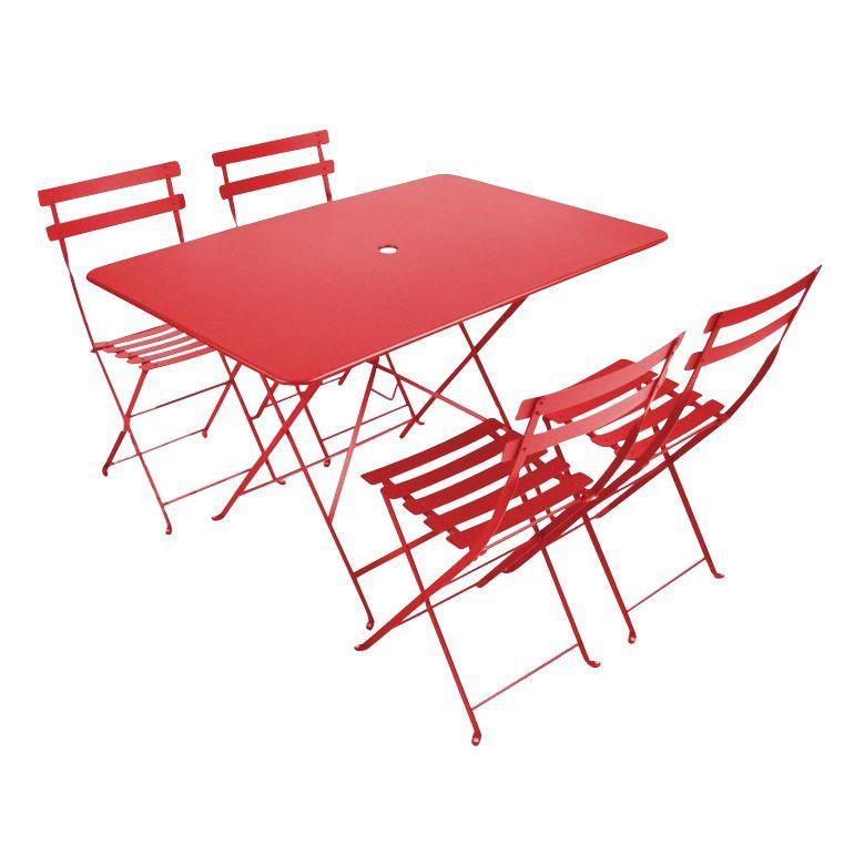 Bistro Garden Set 4 Chairs | Fermob | Ambientedirect.Com