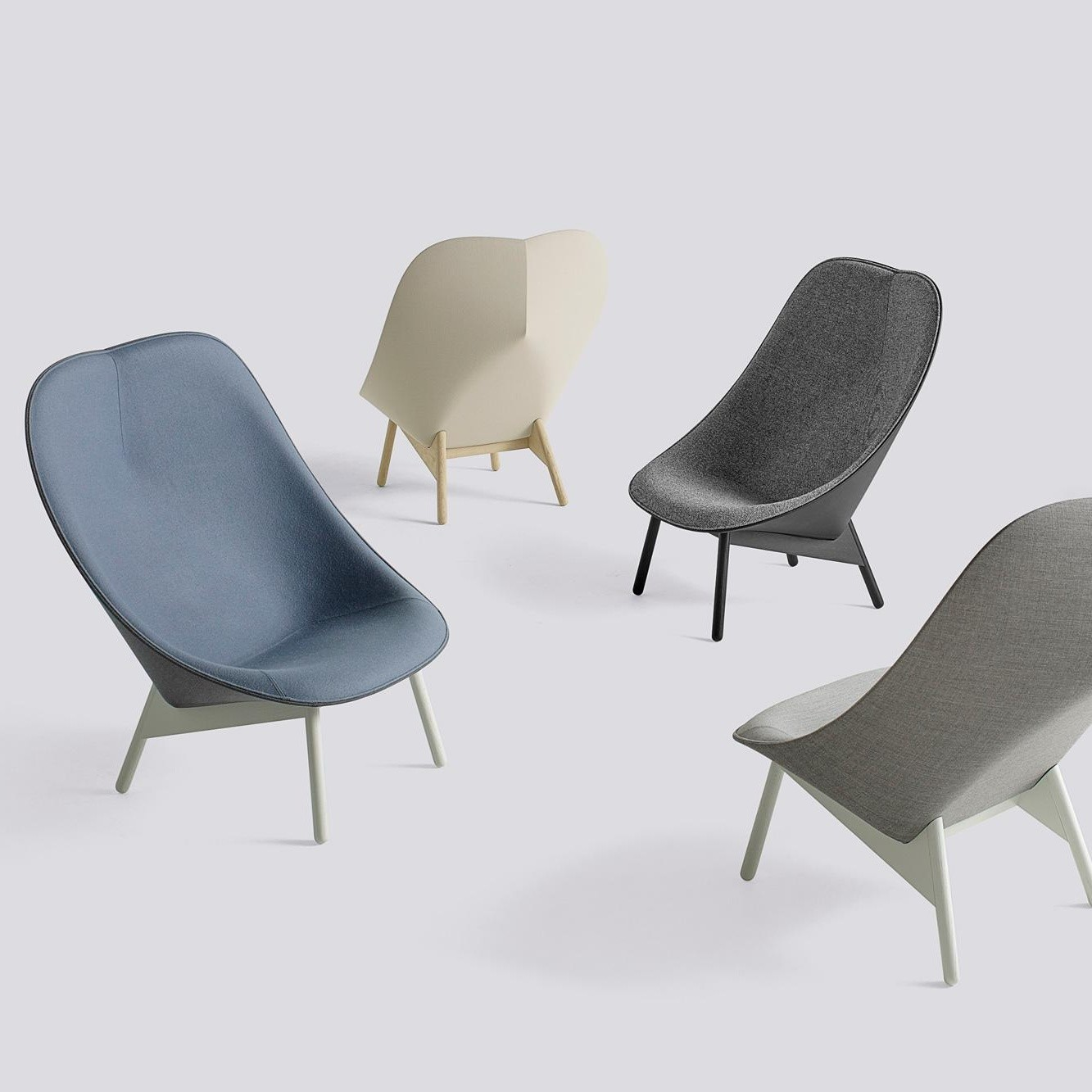 hay uchiwa lounge sessel gestell schwarz ambientedirect. Black Bedroom Furniture Sets. Home Design Ideas