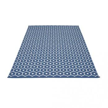 pappelina - Honey Teppich 180x260cm - blau/vanille