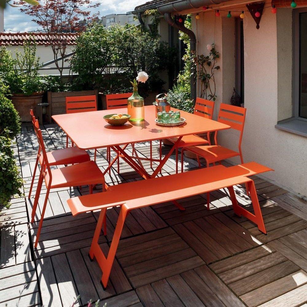 Cargo mesa de jard n plegable fermob for Mesa jardin plegable