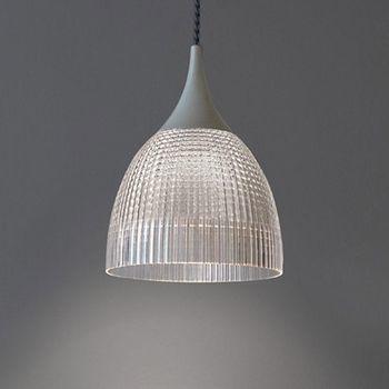 Artemide - Lana Pendelleuchte  - transparent/weiß/Diffusor weiß/H 16,3cm/Ø 12,5cm