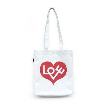 - Graphic Bag Love Heart Tasche - rot/weiß/BxH 37x40cm