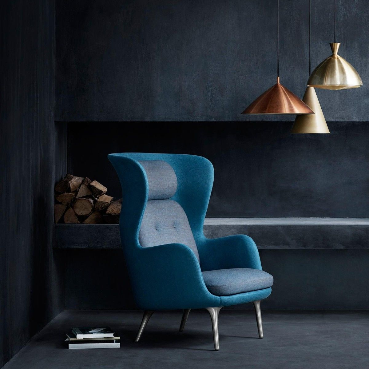 ro oorfauteuil fritz hansen. Black Bedroom Furniture Sets. Home Design Ideas