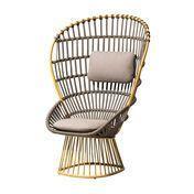 Kettal - Cala Sessel Gestell aluminium rund - gelb/grau/Sitz- und Kopfkissen in Fog Laminate 257/105.2x152.3x75cm