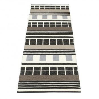 pappelina - James Teppich 70x240cm - schwarz-weiß