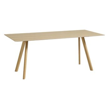 HAY - Copenhague CPH30 Esstisch/Tisch - eiche/Tischplatte Eichenfurnier/Gestell Eiche klar lackiert/200x90x74cm