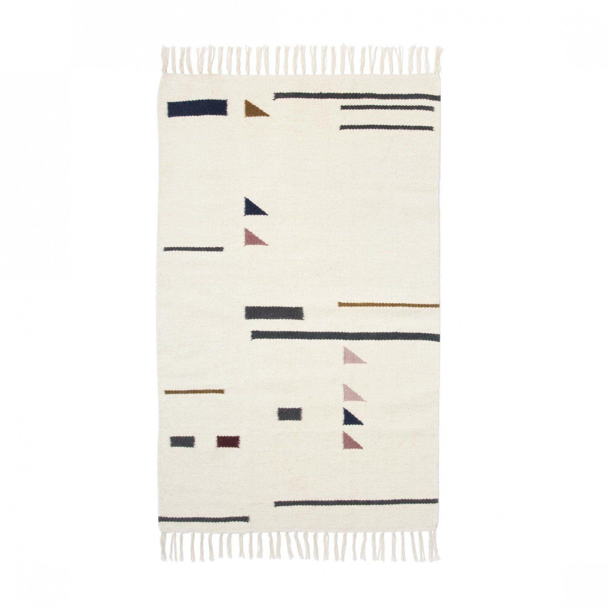 kelim colour triangles teppich ferm living. Black Bedroom Furniture Sets. Home Design Ideas