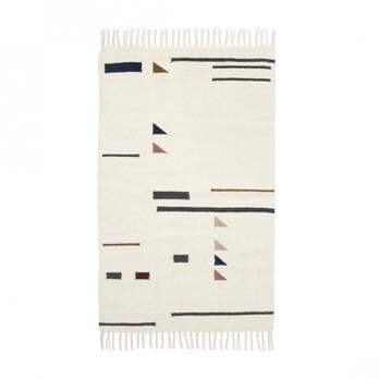 ferm LIVING - Kelim Colour Triangles Teppich klein - mehrfarbig/80x140cm/chemisch reinigen