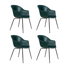 Gubi - Bat Dining Chair Gestell schwarz 4er Set