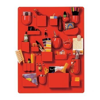 Vitra - Uten.Silo I Accessoires Wandhalter - rot/glänzend/87 x 67 x 6.5 cm