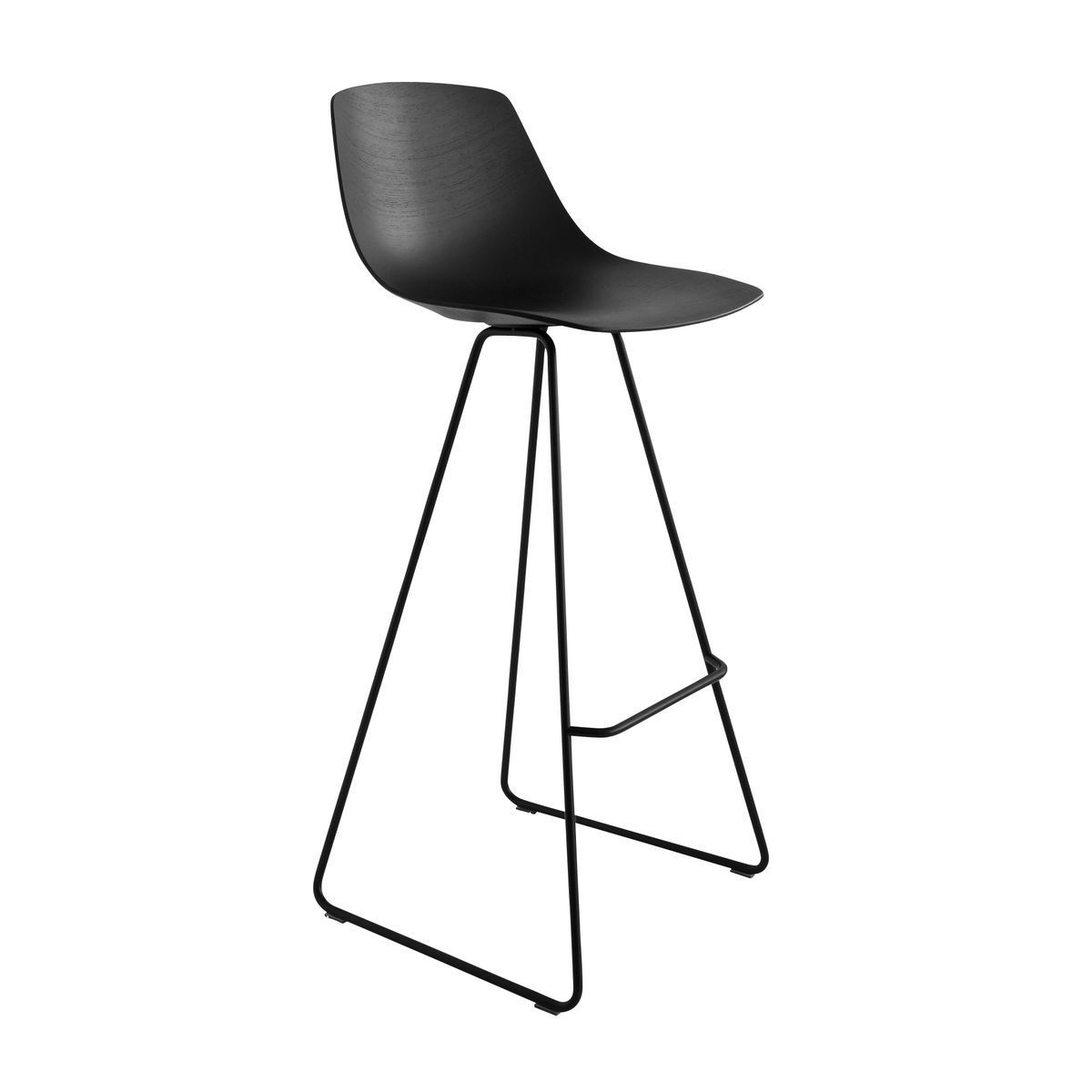 Miunn bar stool skid legs black la palma for Exclusive barhocker