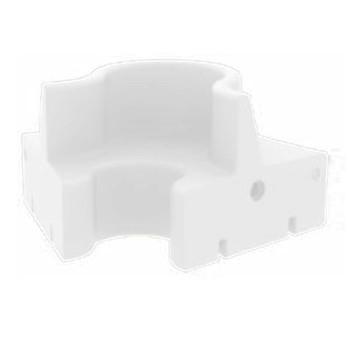 VerPan - Cloverleaf In/Outdoor Sofa Mittelelement - weiß/UV-beständig/100% recyclebar/LxBxH 142x158x80cm