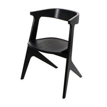 Tom Dixon - Slab Stapelstuhl - schwarz/lackiert/LxBxH 64x52x75cm