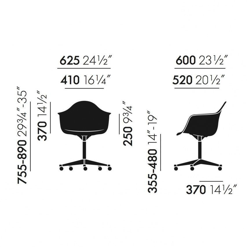 eames plastic armchair dimensions crafts. Black Bedroom Furniture Sets. Home Design Ideas