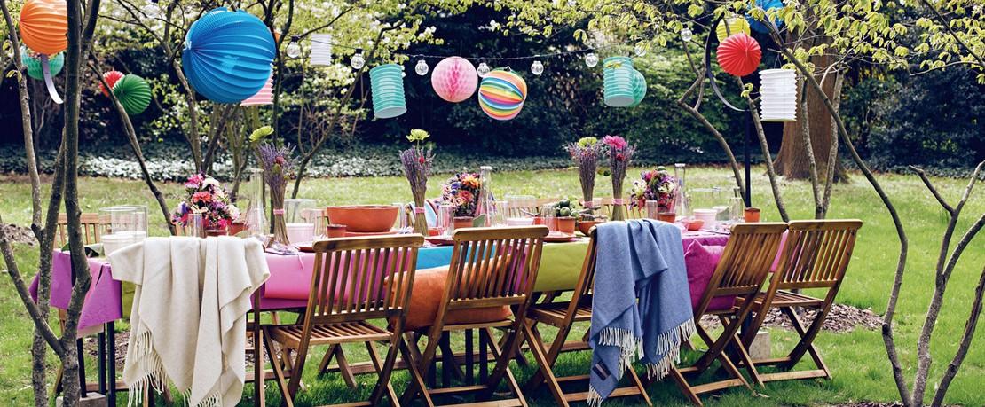 Gartenparty Tischkultur