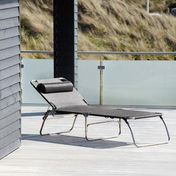 Jan Kurtz - Fiam Amigo Lounger Summer Set - black/textile/without armrest/incl. Neck Bolster