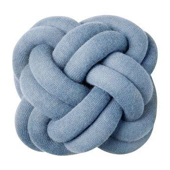 DesignHouseStockholm - Knot Kissen - blau/waschbar bei 30°C/30x30x15cm