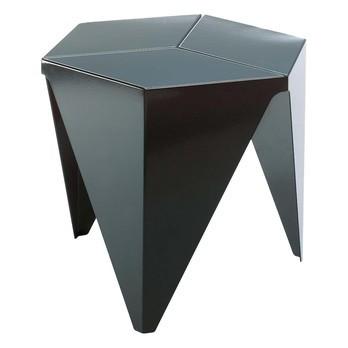 Vitra - Prismatic Table Noguchi Beistelltisch - schwarz/Aluminium/H: 37.5cm