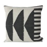 ferm LIVING - Kelim Black Triangles Cushion