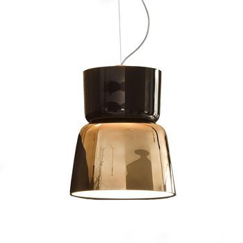 Prandina - Bloom S5 LED Pendelleuchte - kupfer schwarz/glänzend/Ø 36cm