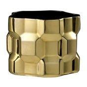 Driade - Gear Vase 20cm - gold/glänzend/Innenseite schwarz/H 20cm/Ø 25cm