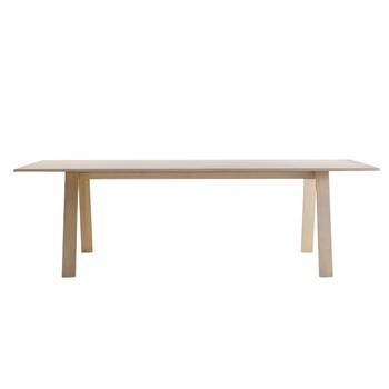 Cappellini - Bac Tisch rechteckig - Esche gebleicht/Holz/Größe 1/200x85cm