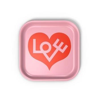Vitra - Classic Tray Love Heart Tablett - rosa/LxBxH 28x28x2cm