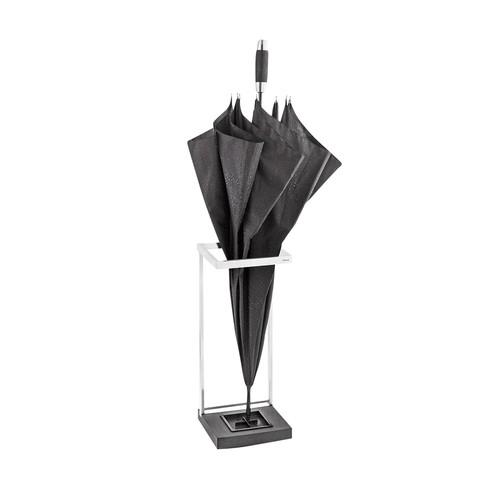 Blomus - Menoto Schirmständer - silber/schwarz/matt/H: 49cm/20x20cm