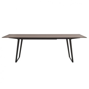 MDF Italia - Axy Esstisch - eiche mokka/Gestell aluminium grafitgrau/LxBxH 260x90x73cm