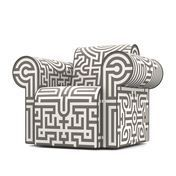 Moooi - Labyrinth Sessel - grau