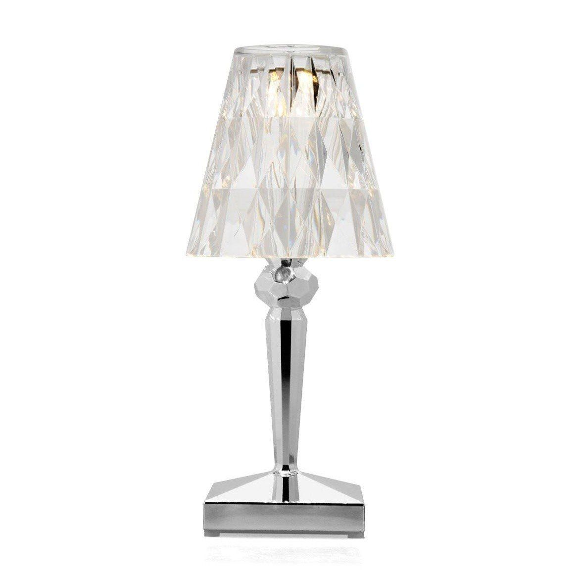 ... Kartell - Battery LED Table Lamp - transparent/chrome/not suitable for  outdoor use ... - Battery LED Table Lamp Kartell AmbienteDirect.com