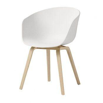 HAY - HAY About a Chair 22 Armlehnstuhl - weiß/Gestell Eiche geseift