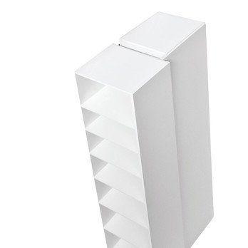 Kristalia - Blio A Schrankelement  - weiß RAL 9010/lackiert/212x73,5x37cm/1 offenes und 1 geschlossenes Element