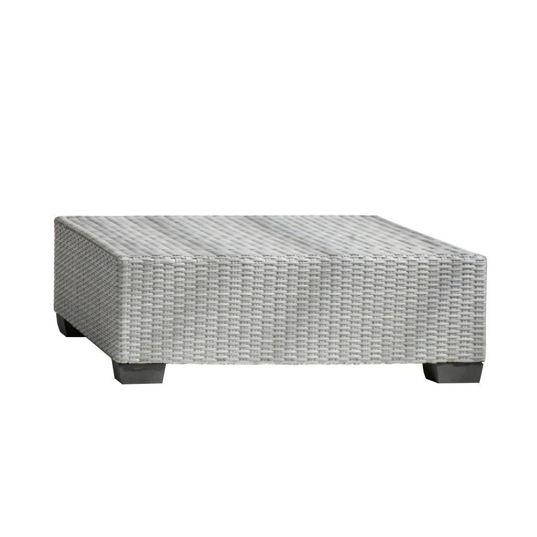 Gervasoni Inout 514 Poly Rattan Outdoor Table White Light