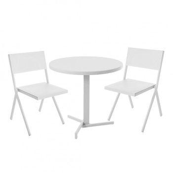 emu - Mia Gartenset - weiß/2 Stühle + 1 Tisch Ø 80cm