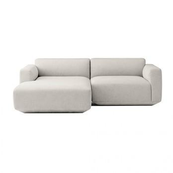 &tradition - Develius 2-Sitzer Sofa mit Chaiselongue