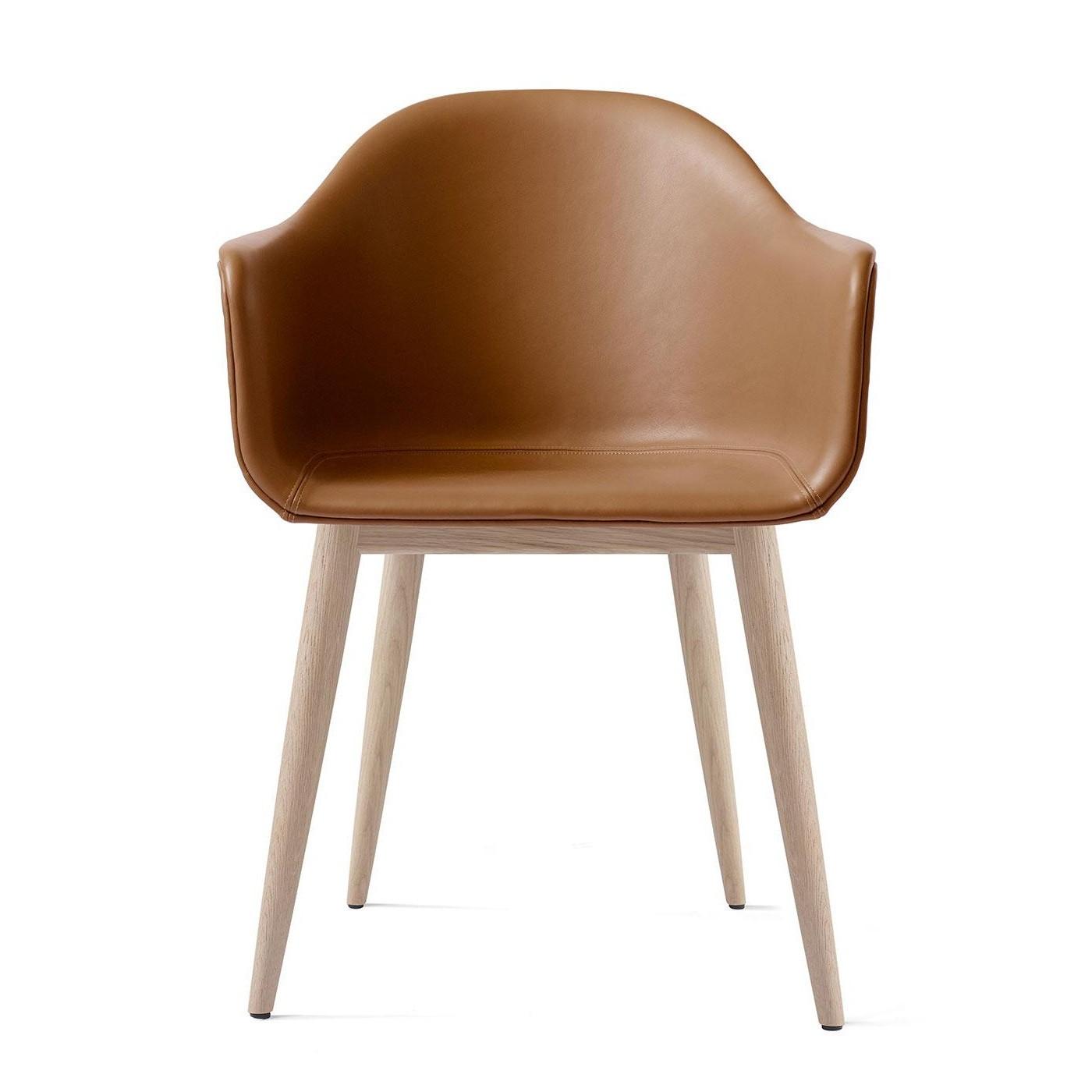 chêne avec Chaise accoudoirs Harbour cuir bf76Yyg